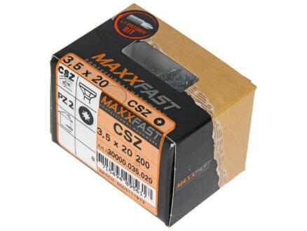 Maxxfast Houtschroeven PZ 20x3,5 mm verzinkt 200 stuks