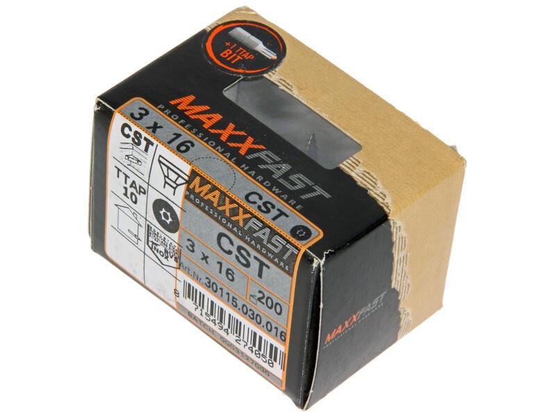 Maxxfast Houtschroeven TX 16x3 mm inox 200 stuks