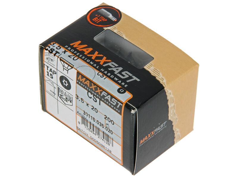 Maxxfast Houtschroeven TX 20x3,5 mm inox 200 stuks