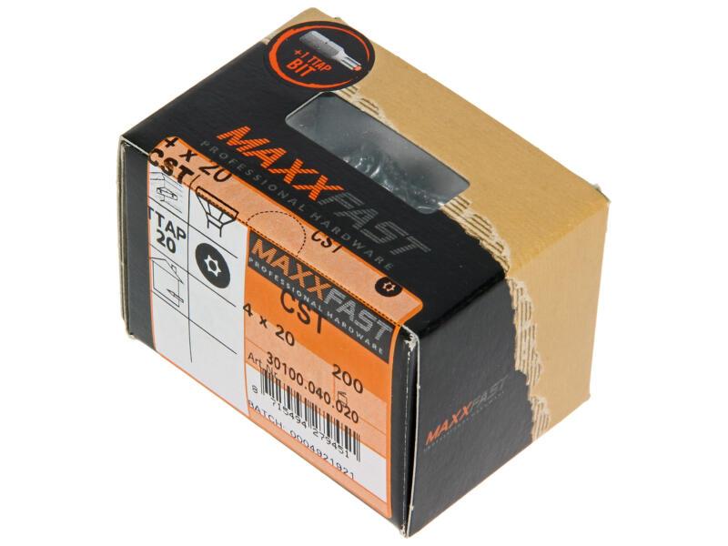 Maxxfast Houtschroeven TX 20x4 mm verzinkt 200 stuks
