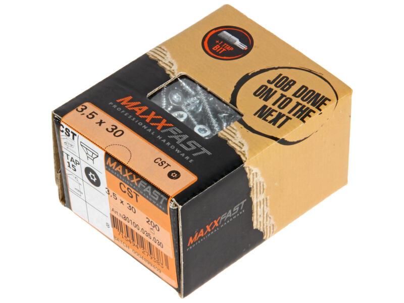 Maxxfast Houtschroeven TX 30x3,5 mm verzinkt 200 stuks