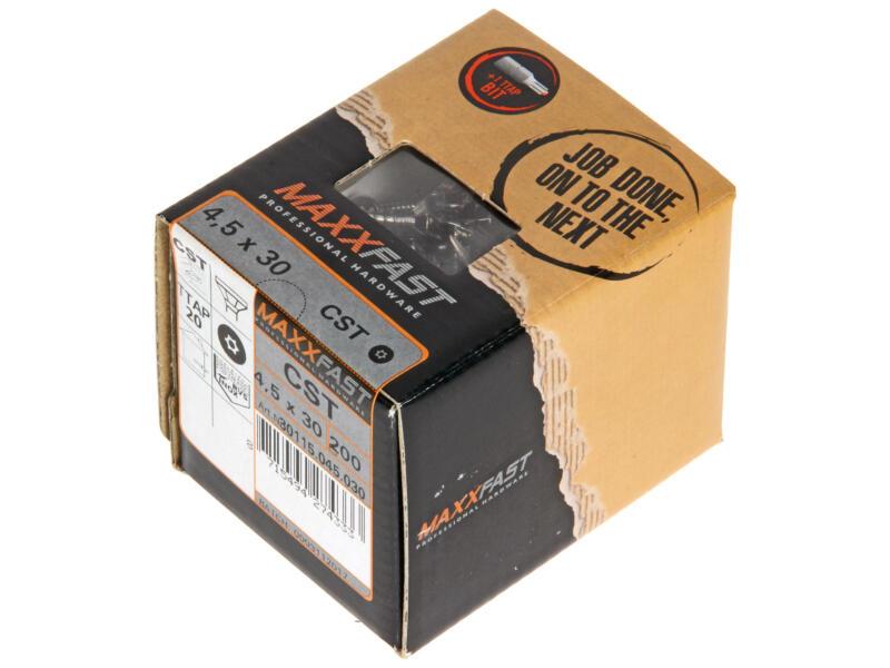 Maxxfast Houtschroeven TX 30x4,5 mm inox 200 stuks