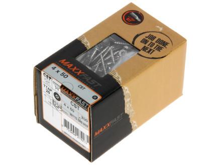 Maxxfast Houtschroeven TX 50x4 mm inox 200 stuks