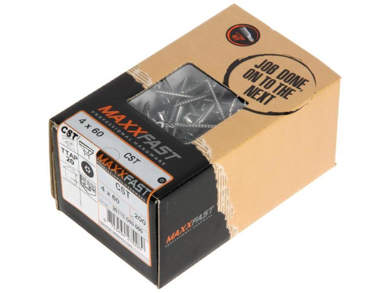 Maxxfast Houtschroeven TX 60x4 mm inox 200 stuks