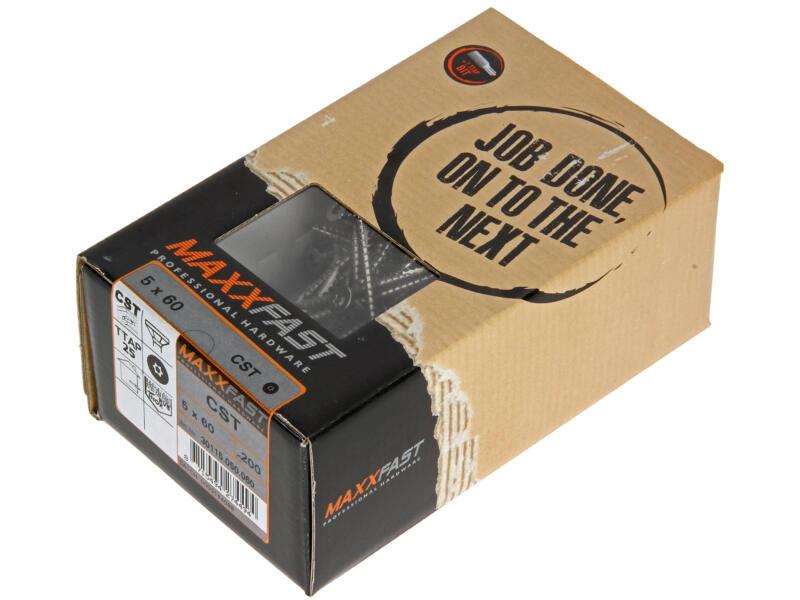Maxxfast Houtschroeven TX 60x5 mm inox 200 stuks