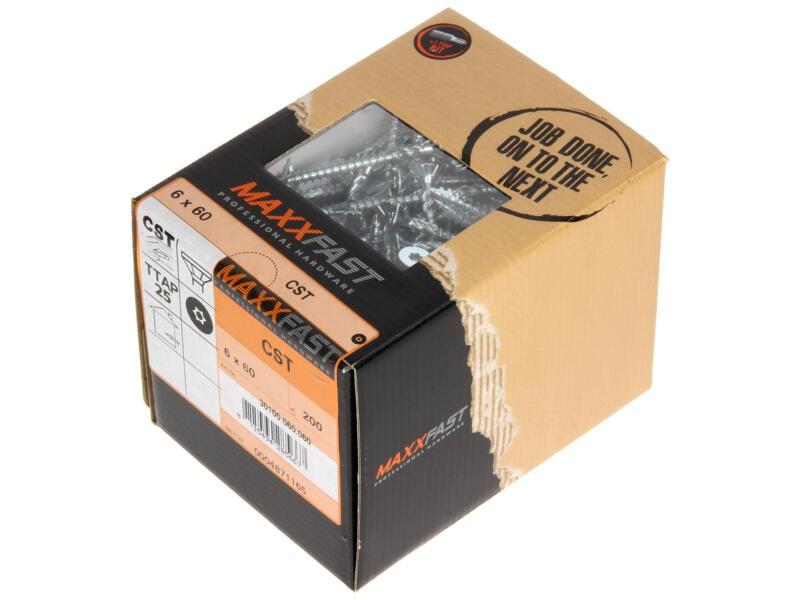 Maxxfast Houtschroeven TX 60x6 mm verzinkt 200 stuks