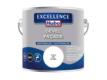 Hubo Excellence gevelverf façade 2,5l wit