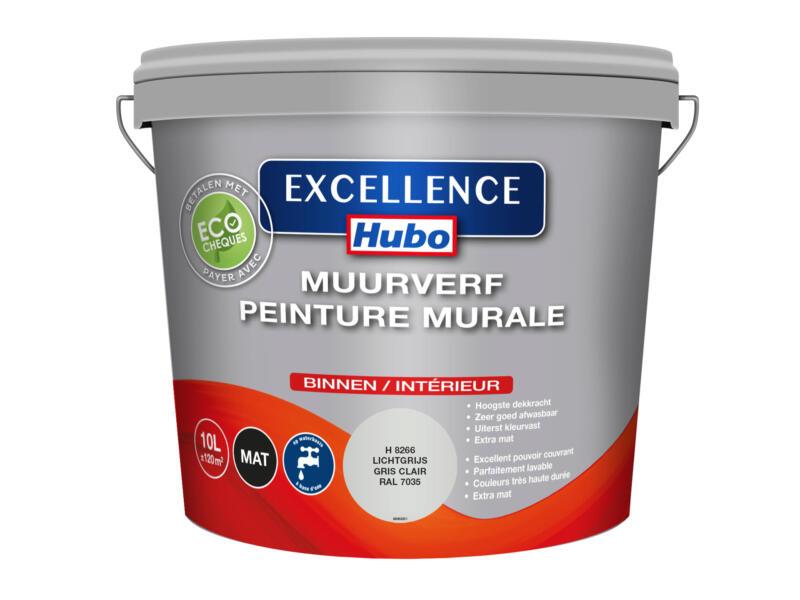 Hubo Excellence muurverf mat 10l lichtgrijs