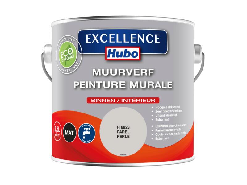 Hubo Excellence muurverf mat 2,5l marmer grijs