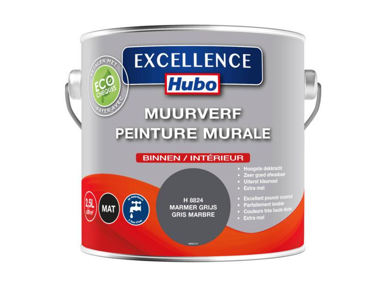 Hubo Excellence muurverf mat 2,5l omber grijs