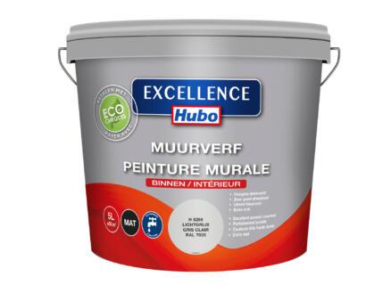 Hubo Excellence muurverf mat 5l lichtgrijs