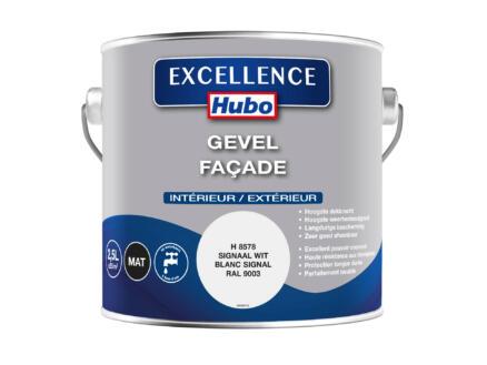 Hubo Excellence peinture façade 2,5l blanc signal