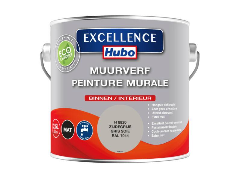Hubo Excellence peinture murale 2,5l gris soie
