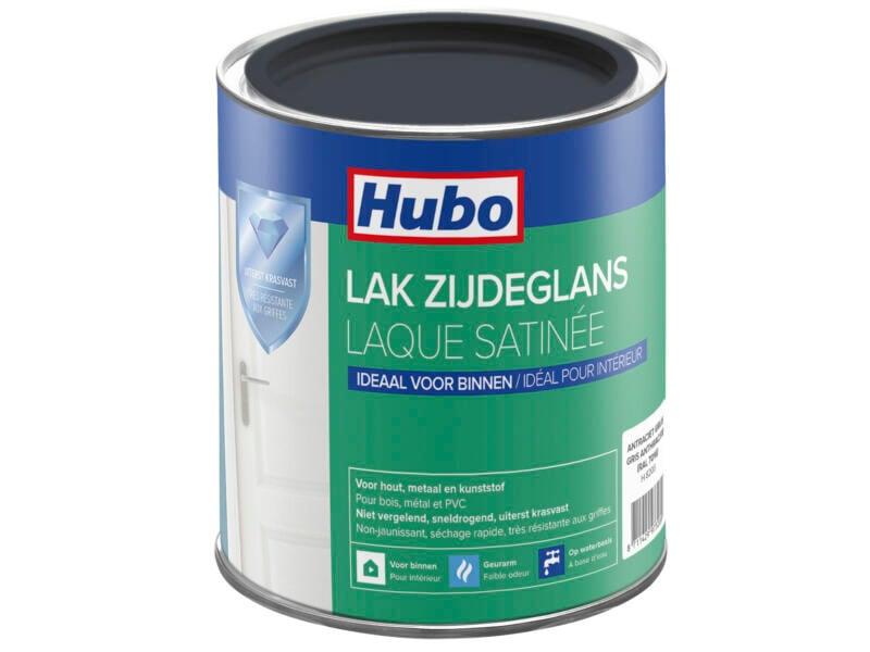 Hubo acryllak zijdeglans 0,75l antracietgrijs