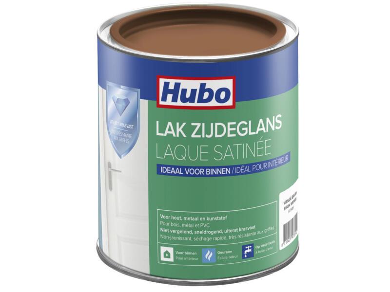 Hubo acryllak zijdeglans 0,75l wenge bruin