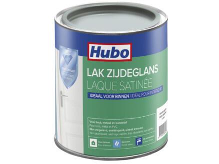 Hubo acryllak zijdeglans 0,75l zilver grijs