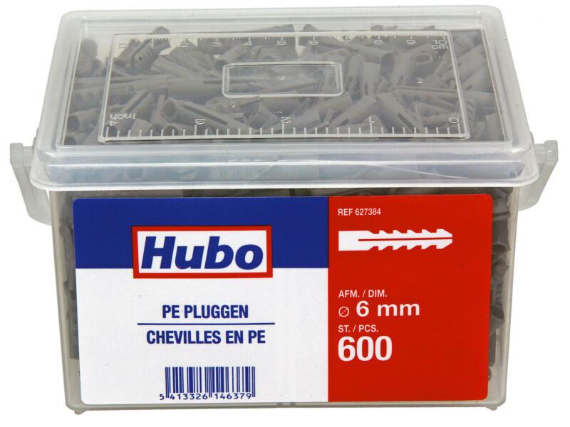 Hubo chevilles PE 6mm 600 pièces