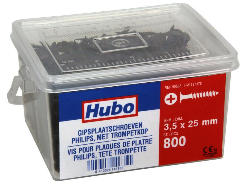 Hubo gipsplaatschroeven PZ2 25x3,5 mm 800 stuks