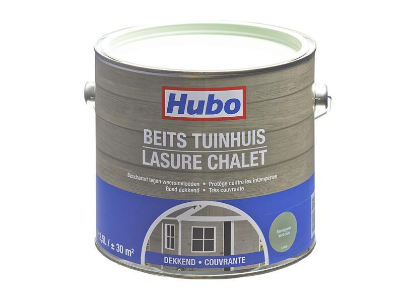Hubo houtbeits tuinhuis 2,5l bleekgroen