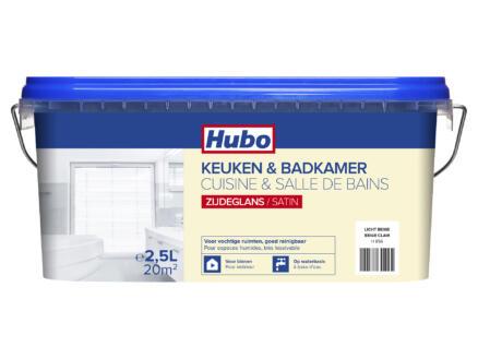 Hubo keuken- en badkamerverf zijdeglans 2,5l licht beige