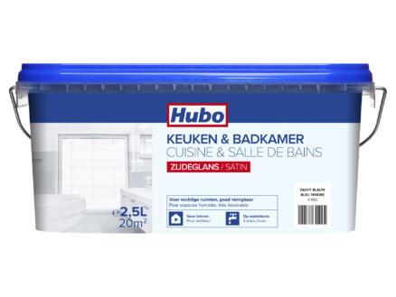 Hubo keuken- en badkamerverf zijdeglans 2,5l zacht blauw