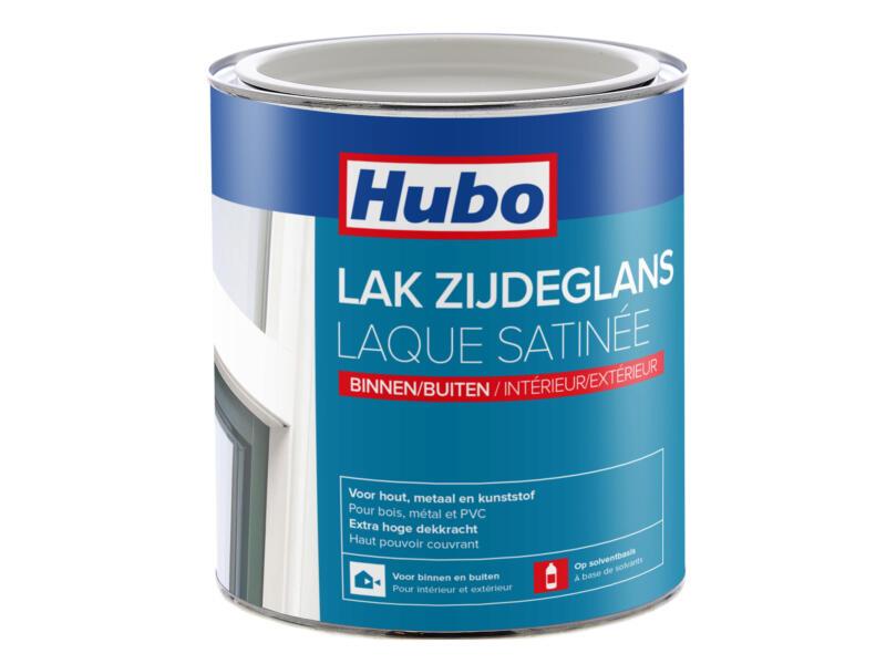 Hubo lak zijdeglans 0,75l platina wit