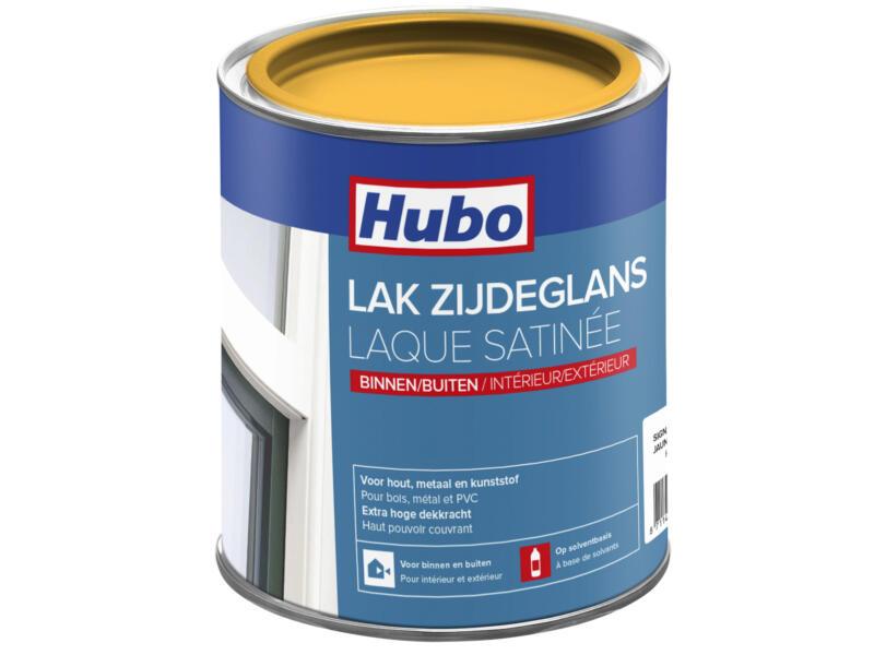 Hubo lak zijdeglans 0,75l signaal geel