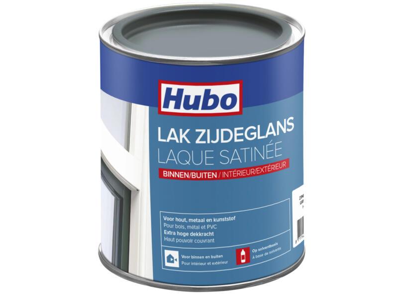 Hubo lak zijdeglans 0,75l zink grijs