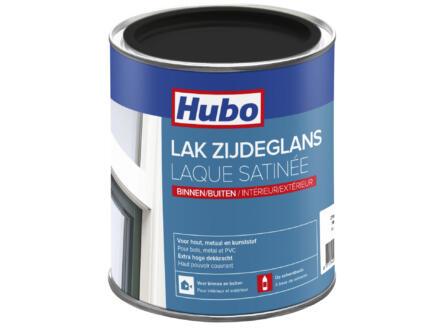 Hubo lak zijdeglans 0,75l zwart