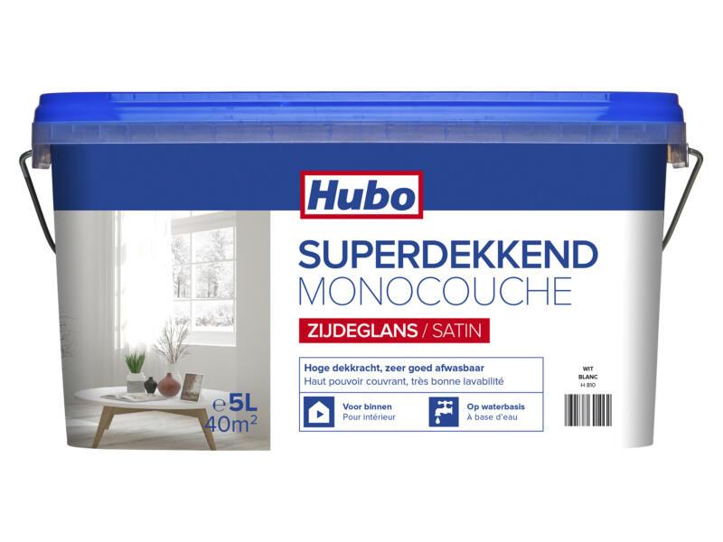 Hubo muur- en plafondverf superdekkend zijdeglans 5l wit