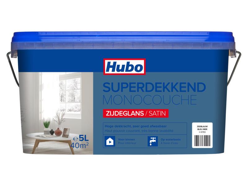 Hubo muur- en plafondverf superdekkend zijdeglans 5l zeeblauw