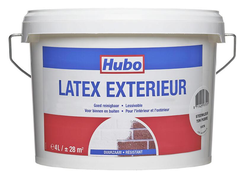 Hubo muurverf latex buiten 4l steenkleur