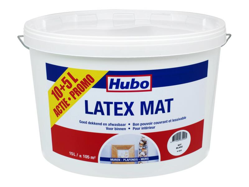 Hubo muurverf latex mat 10+5 l wit
