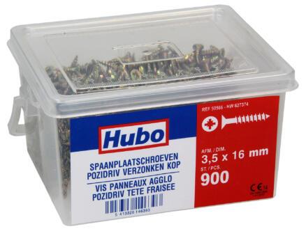 Hubo spaanplaatschroeven PZ2 16x3,5 mm 900 stuks