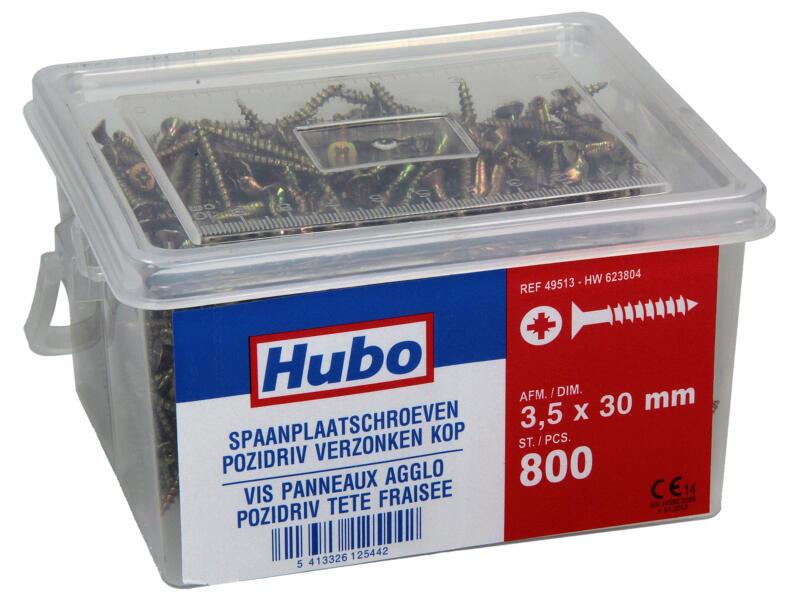 Hubo spaanplaatschroeven PZ2 30x3,5 mm 800 stuks