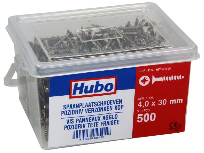 Hubo spaanplaatschroeven PZ2 30x4 mm 500 stuks