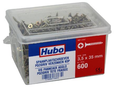 Hubo spaanplaatschroeven PZ2 35x3,5 mm 600 stuks