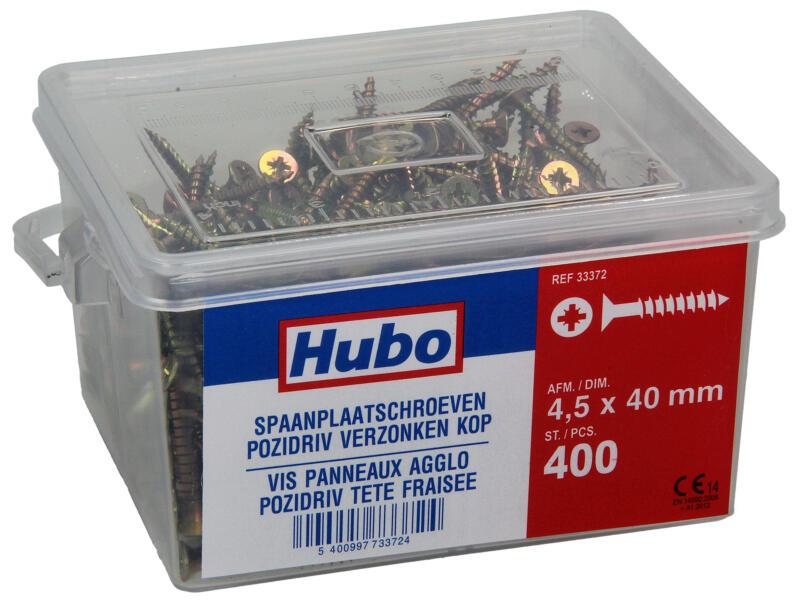 Hubo spaanplaatschroeven PZ2 40x4,5 mm 400 stuks