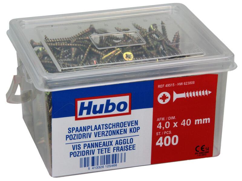Hubo spaanplaatschroeven PZ2 40x4 mm 400 stuks