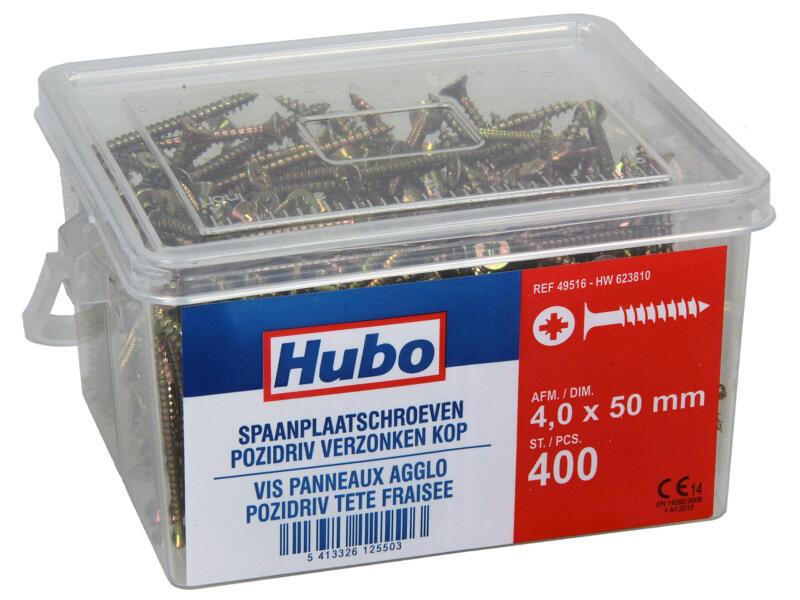 Hubo spaanplaatschroeven PZ2 50x4 mm 400 stuks
