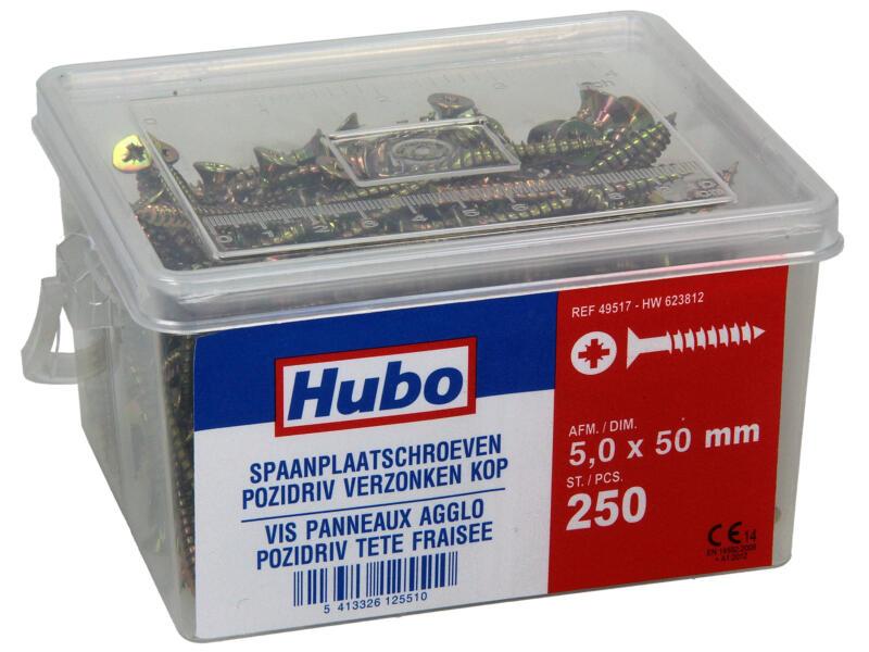 Hubo spaanplaatschroeven PZ2 50x5 mm 250 stuks