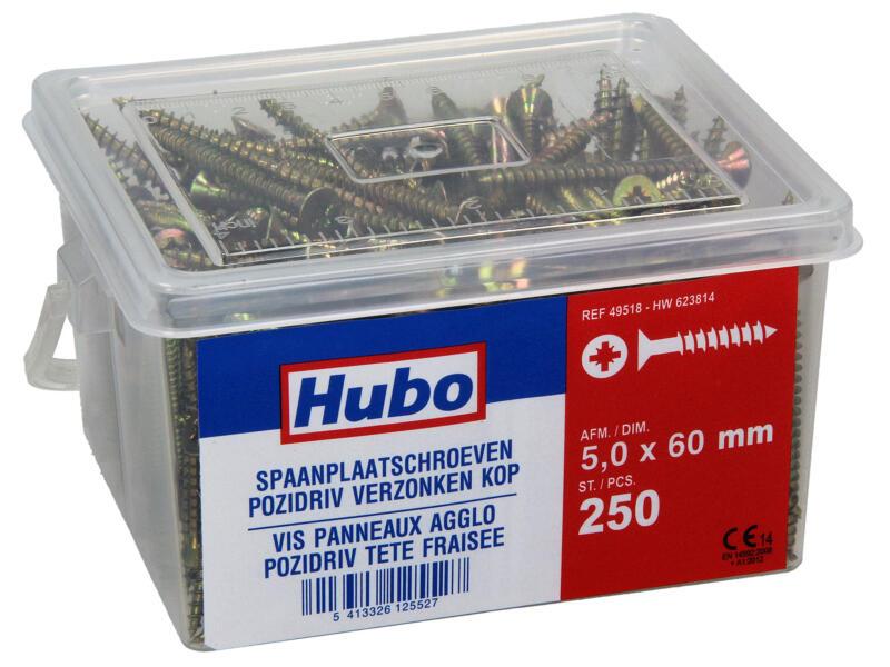 Hubo spaanplaatschroeven PZ2 60x5 mm 250 stuks