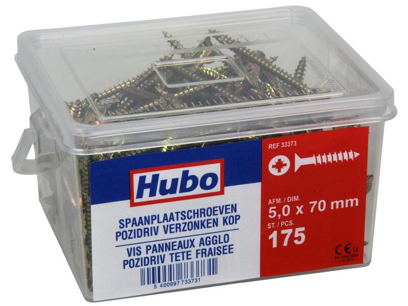 Hubo spaanplaatschroeven PZ2 70x5 mm 175 stuks