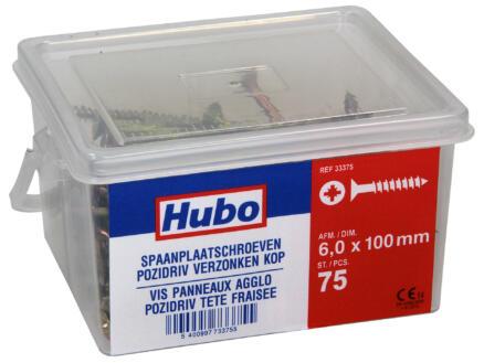 Hubo spaanplaatschroeven PZ3 100x6 mm 75 stuks