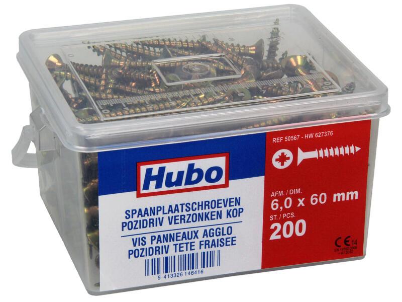 Hubo spaanplaatschroeven PZ3 60x6 mm 200 stuks