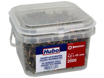 Hubo vis pour aggloméré PZ2 40x4 mm 2000 pièces