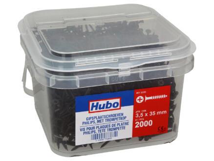 Hubo vis pour plaques de plâtre PZ2 35x3,5 mm 2000 pièces