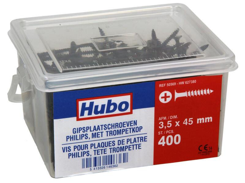 Hubo vis pour plaques de plâtre PZ2 45x3,5 mm 400 pièces