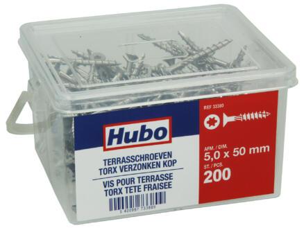 Hubo vis pour terrasse TX25 50x5 mm 200 pièces