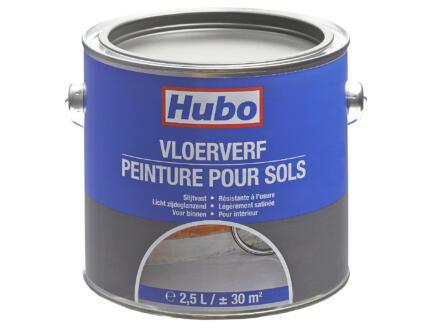 Hubo vloerverf zijdeglans 2,5l grijs